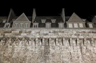 Saint malo historischen mauern grimy