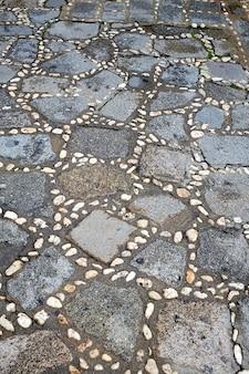 Salamanca in spanien entsteint bodenbelagdetail