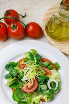 Salat von verschiedenen gemüsen