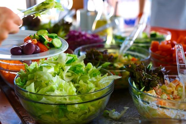 Salatbuffet.