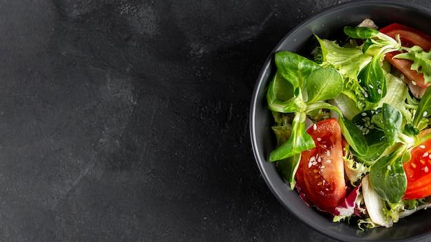 Salatschüssel mit platz zum kopieren
