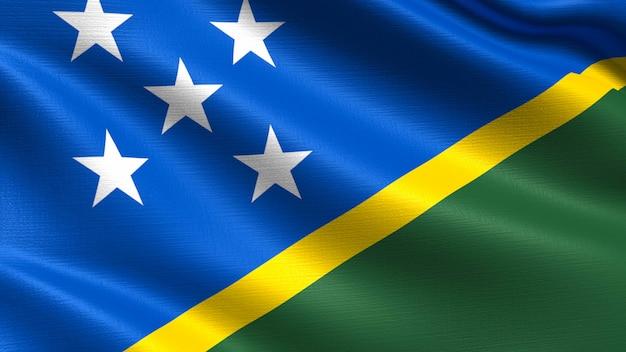 Salomonen-flagge, mit wellenartig bewegender gewebebeschaffenheit
