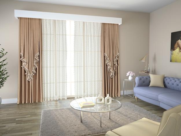 Salon mit dekoration