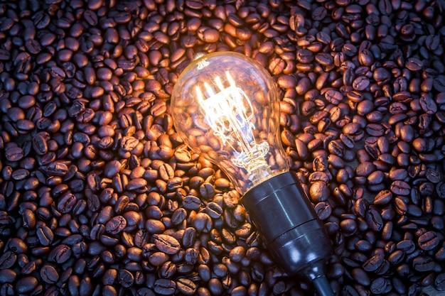 Samen mit einer lampe beleuchtet