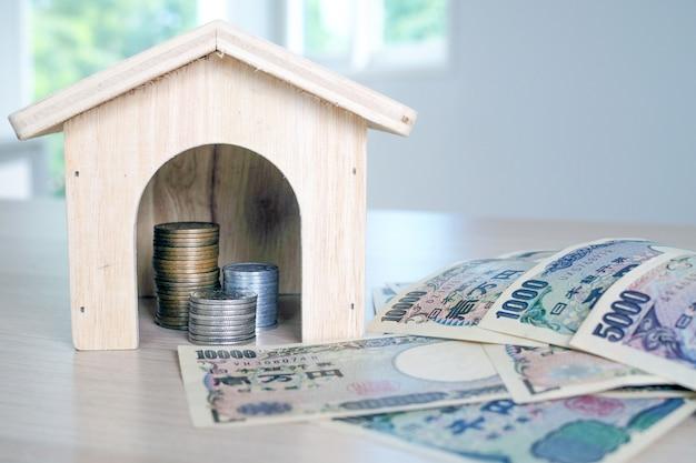 Sammle geld, um ein haus zu bauen