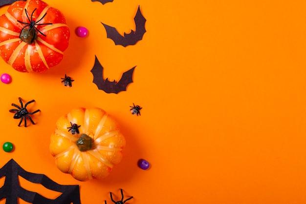 Sammlung halloween-parteigegenstände.
