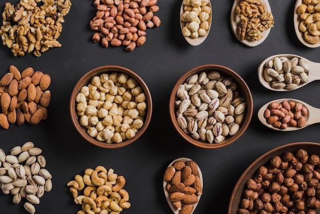 Sammlung sortierte nüsse