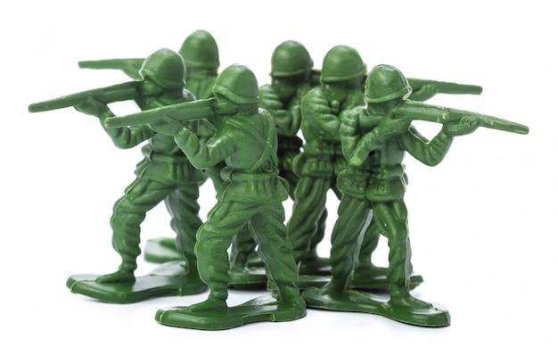 Sammlung traditioneller spielzeugsoldaten