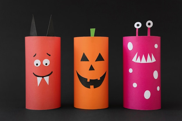 Sammlung von dekorationen für halloween