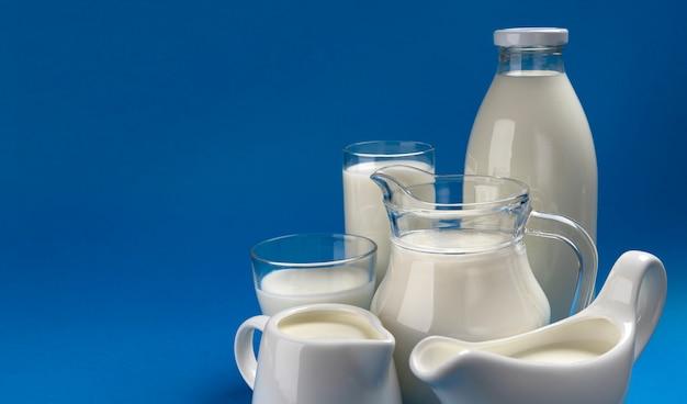 Sammlung von milchprodukten