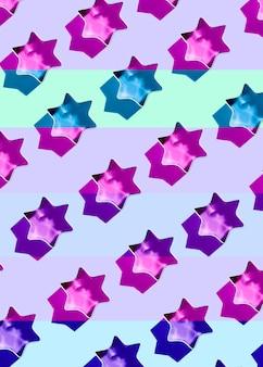 Sammlung von plätzchenformen von sternen mit füllungen