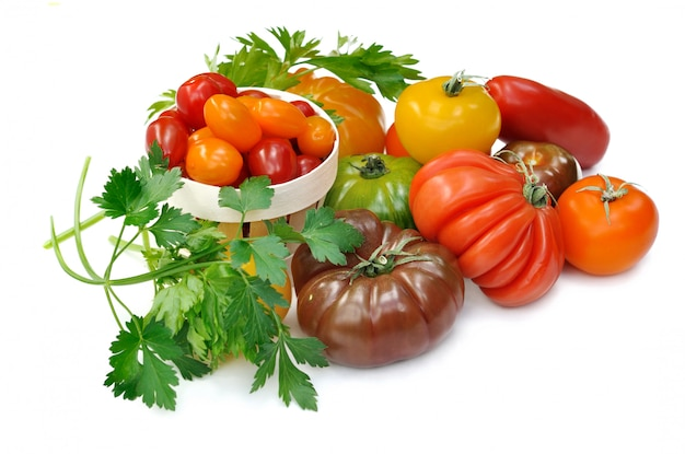 Sammlung von tomaten