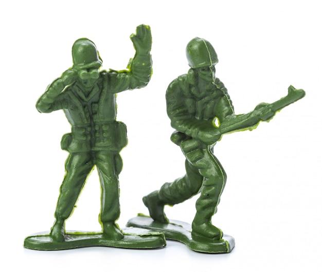 Sammlung von traditionellen spielzeugsoldaten