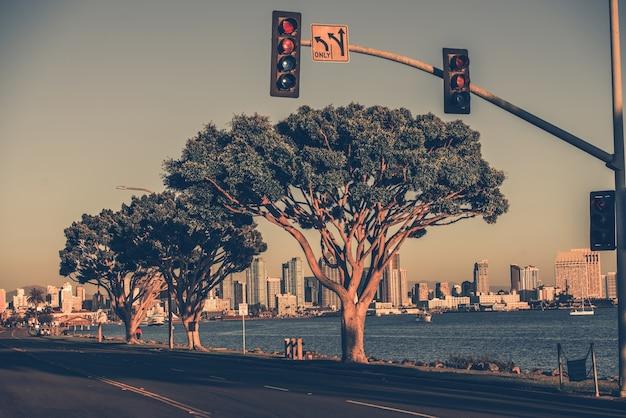 San diego bay und skyline