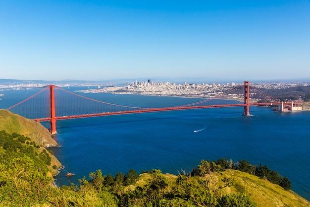 San francisco golden gate bridge marin-landspitzen kalifornien