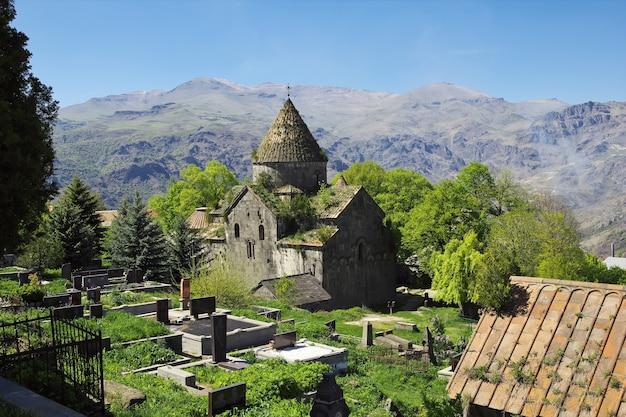 Sanahin-kloster in den bergen des kaukasus von armenien