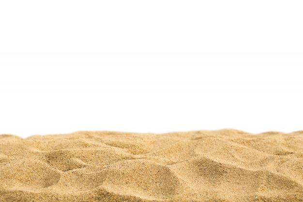 Sand getrennt auf weißem hintergrund.