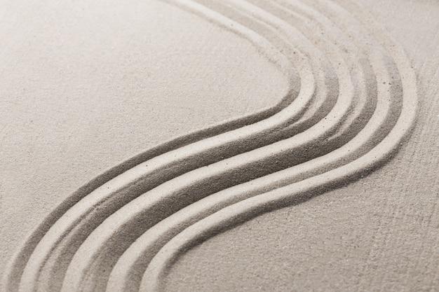 Sand japanischer zengarten