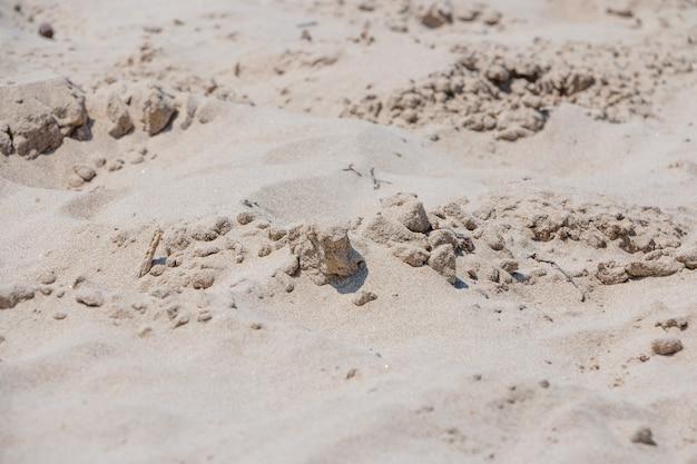 Sand mit klumpen