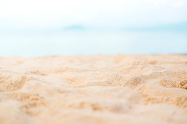 Sand mit seehimmelsommerstrand
