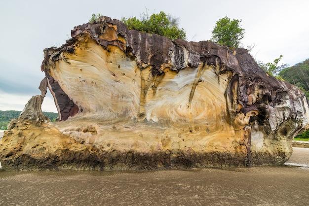 Sandsteinklippe in nationalpark borneo malaysia bako
