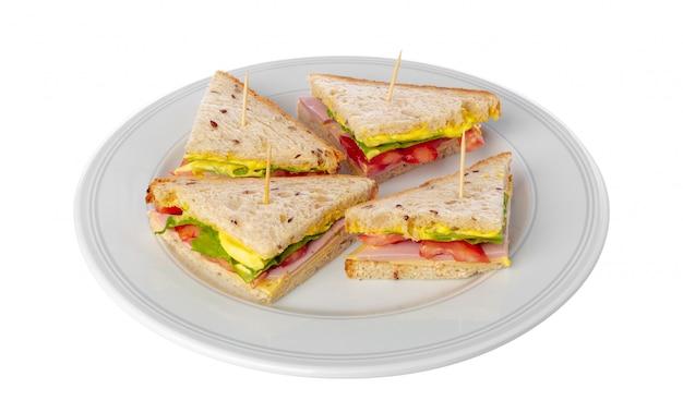 Sandwich auf weiß