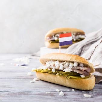 Sandwich mit hering