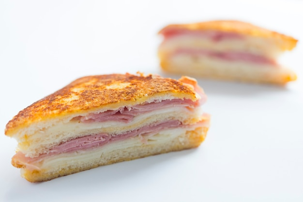 Sandwich monte cristo nahaufnahme von vorne