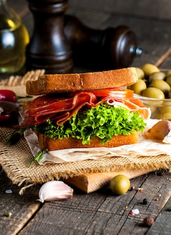 Sandwich zum abendessen