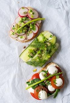 Sandwiches mit brot