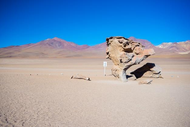 Sandwüstenstrecke auf den bolivianischen anden