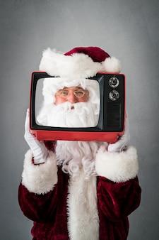 Santa claus senior mann weihnachten weihnachten urlaub