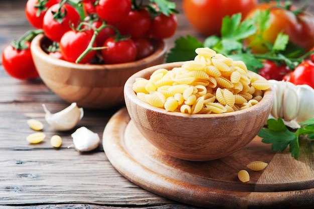 Sardinische ungekochte pasta malloreddus