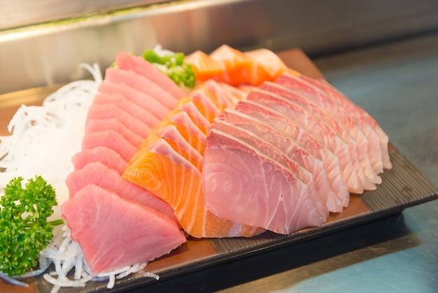 Sashimi-set, japanisches essen