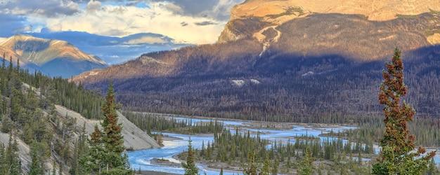 Saskatchewan river icefields parkway alberta kanada