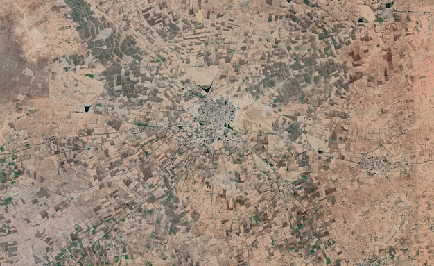 Satelliten-draufsicht-textur über indien
