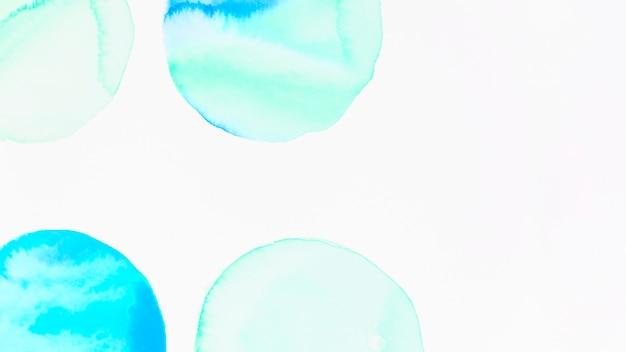 Satz der aquarellstelle auf weißem hintergrund