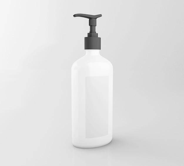 Satz der kosmetischen flasche 3d. attrappe, lehrmodell, simulation