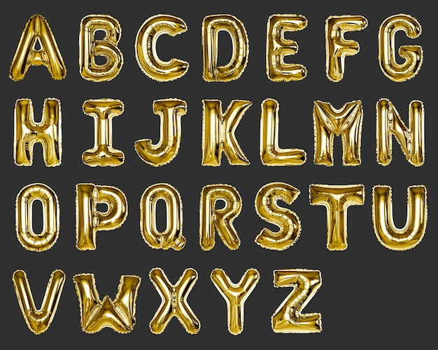 Satz goldene hauptstadt az alphabetballons