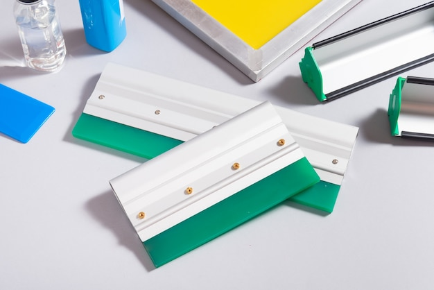 Satz siebdruckwerkzeuge, kit