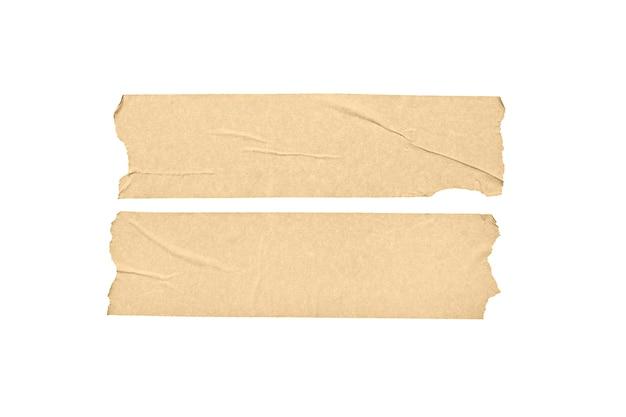 Satz von zwei leeren bandaufklebern lokalisiert auf weißem hintergrund.