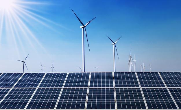 Saubere energie des konzepts in der natur