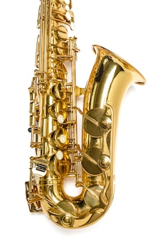 Saxophon jazz instrument isoliert