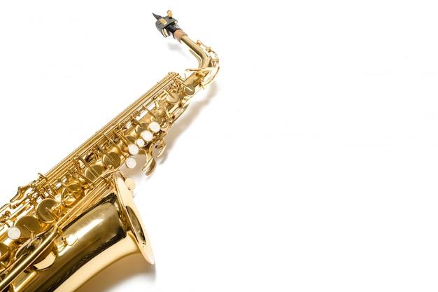 Saxophon jazz instrument isoliert