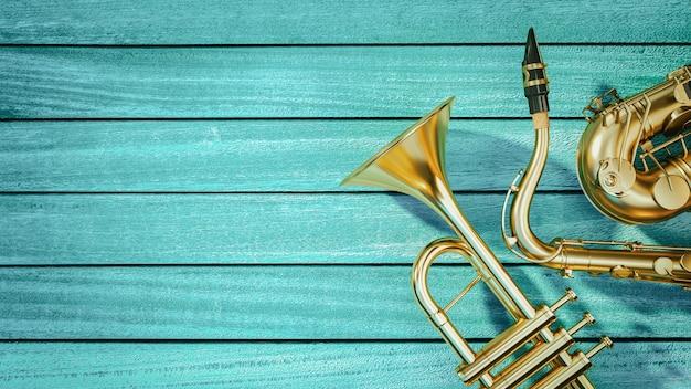 Saxophon und trompete