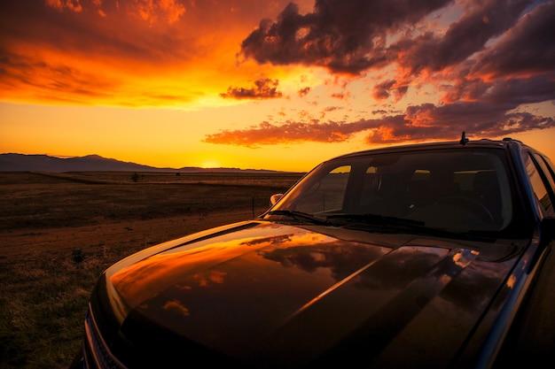 Scenic sunset stop