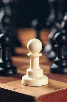 Schach an bord geschäftskonzept