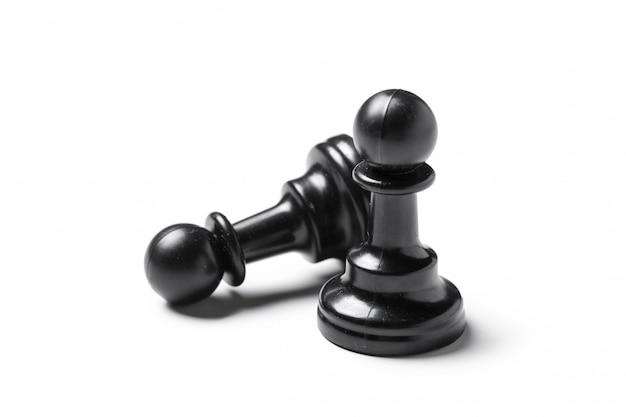 Schach, isoliert auf weiss