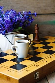 Schach und kaffee