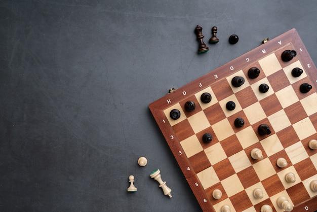 Schachbrett mit stücken